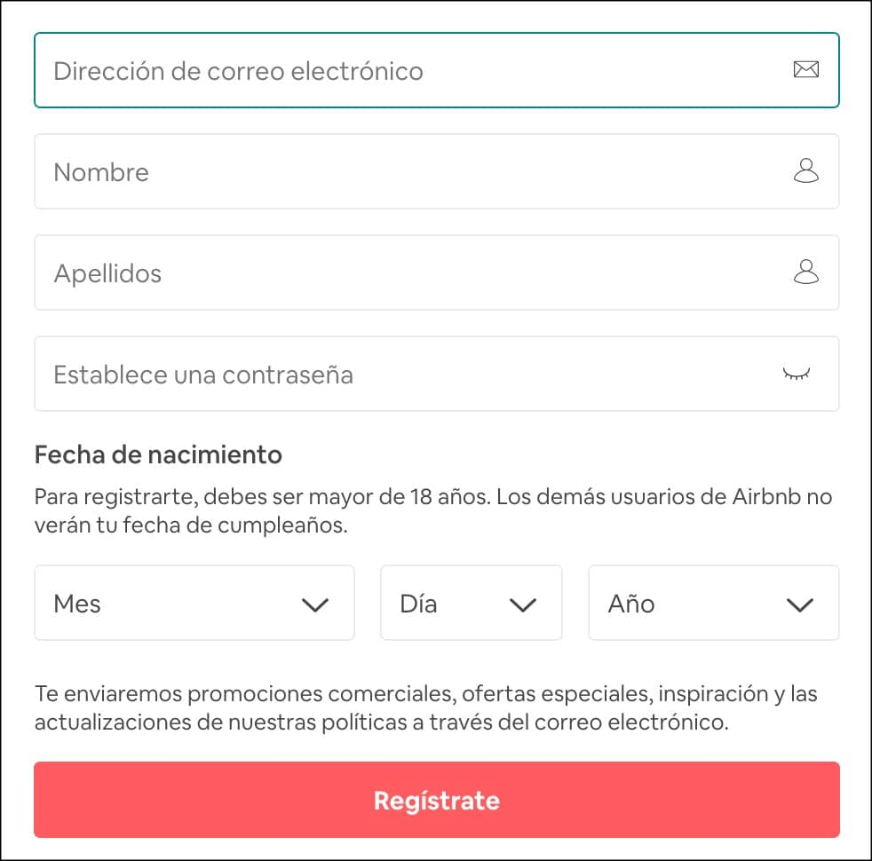 registro usuario airbnb
